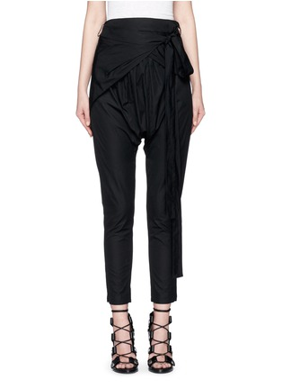 Main View - Click To Enlarge - Isabel Marant - 'Mander' wraparound waist poplin harem pants