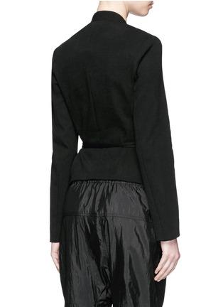Back View - Click To Enlarge - Isabel Marant - 'Falco' sash tie waffle knit wrap jacket