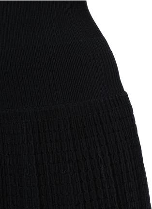 Detail View - Click To Enlarge - Alaïa - 'Tango' stripe panel knit dress