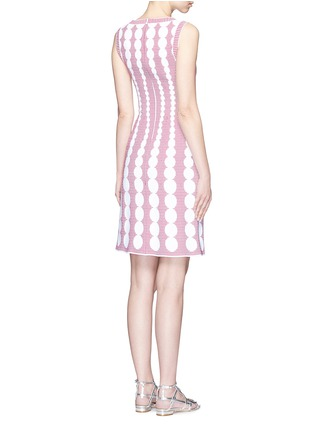 Back View - Click To Enlarge - Alaïa - 'Moorea' graduating dot stripe jacquard knit dress