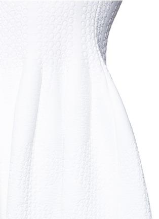 Detail View - Click To Enlarge - Alaïa - 'Vanuatu' dot cloqué knit babydoll dress