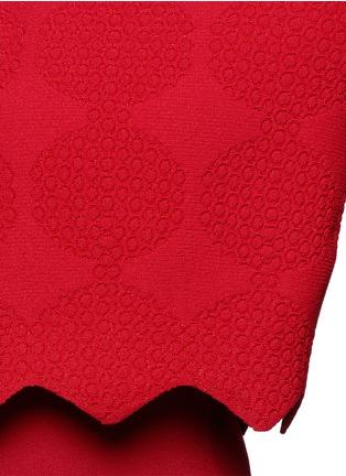 Detail View - Click To Enlarge - Alaïa - 'Vanuatu' dot cloqué cropped cardigan