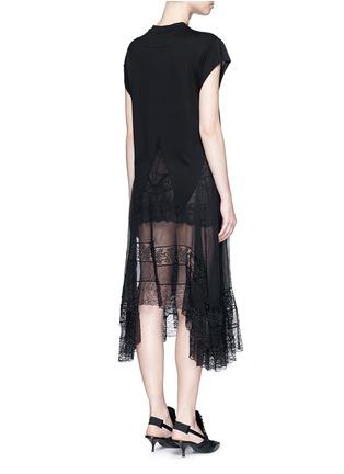 Back View - Click To Enlarge - Givenchy Beauty - Asymmetric silk hem jersey dress