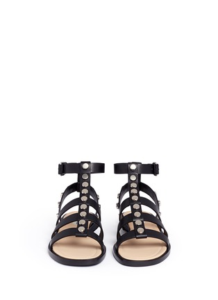 Front View - Click To Enlarge - Balenciaga - Stud leather gladiator sandals