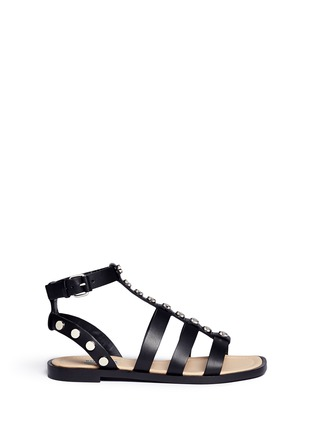 Main View - Click To Enlarge - Balenciaga - Stud leather gladiator sandals