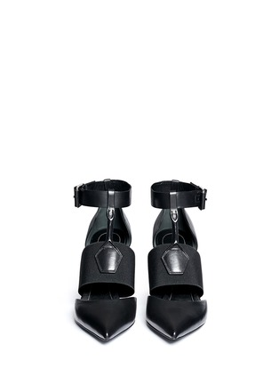 Front View - Click To Enlarge - Balenciaga - Caged elastic band leather pumps