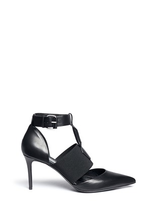 Main View - Click To Enlarge - Balenciaga - Caged elastic band leather pumps