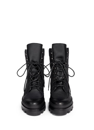 Front View - Click To Enlarge - Balenciaga - Platform leather desert boots