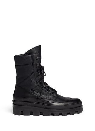 Main View - Click To Enlarge - Balenciaga - Platform leather desert boots