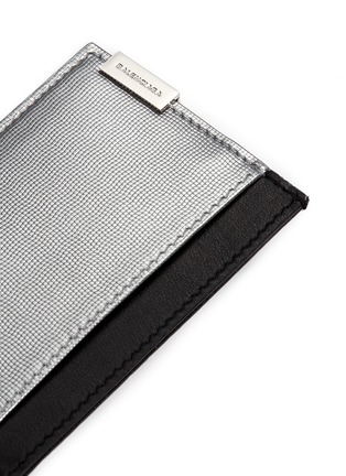 Detail View - Click To Enlarge - Balenciaga - 'Phileas' grid embossed leather cardholder