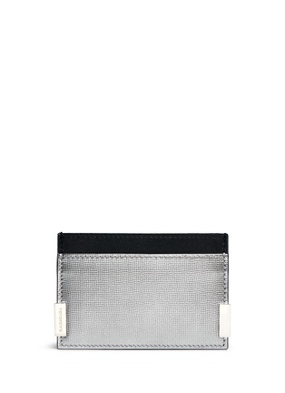 Main View - Click To Enlarge - Balenciaga - 'Phileas' grid embossed leather cardholder