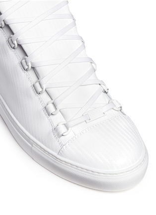 Detail View - Click To Enlarge - BALENCIAGA - Carbone effect leather sneakers