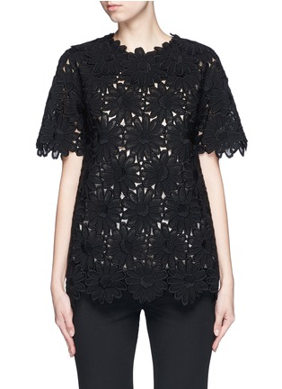 Main View - Click To Enlarge - - - Daisy macramé lace top