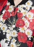Detail View - Click To Enlarge - - - Daisy poppy print silk twill bomber jacket