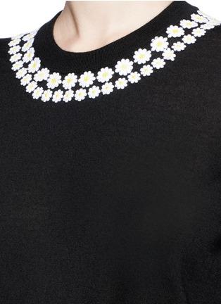 Detail View - Click To Enlarge - - - Daisy macramé cashmere-cotton long sweater