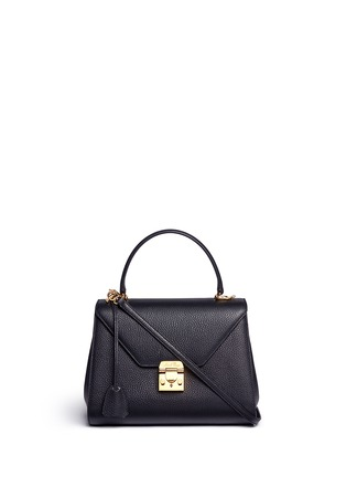 Main View - Click To Enlarge - Mark Cross - 'Hadley' small leather flap bag