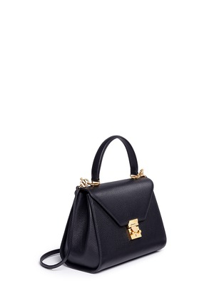 Figure View - Click To Enlarge - Mark Cross - 'Hadley' small leather flap bag