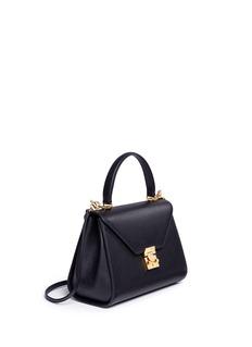 Mark Cross Hadley' small leather flap bag