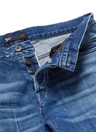 - 3x1 - 'M5' distressed slim fit jeans