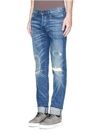 Figure View - Click To Enlarge - 3x1 - 'M5' distressed slim fit jeans
