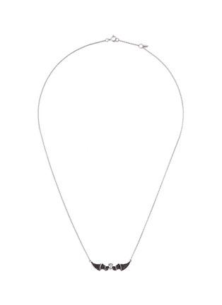 Main View - Click To Enlarge - BAO BAO WAN - 'Alto' black diamond sapphire 18k white gold bat pendant necklace