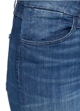 Detail View - Click To Enlarge - 3X1 - 'W3' frayed cuff cropped skinny jeans