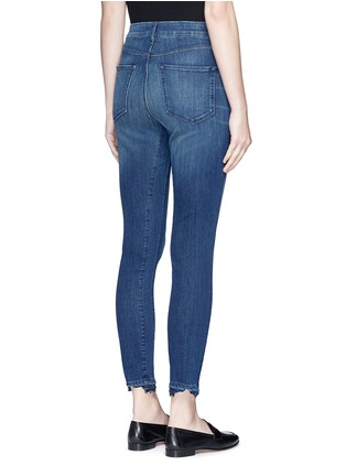 Back View - Click To Enlarge - 3X1 - 'W3' frayed cuff cropped skinny jeans