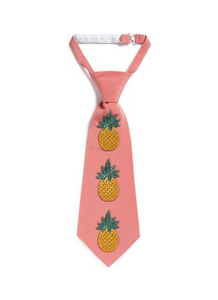 Main View - Click To Enlarge - Gucci - Pineapple embroidery silk crepe tie