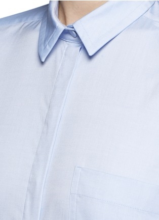 Detail View - Click To Enlarge - Gucci - Side split Oxford cloth shirt