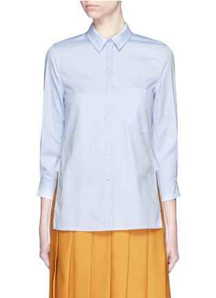 Main View - Click To Enlarge - Gucci - Side split Oxford cloth shirt
