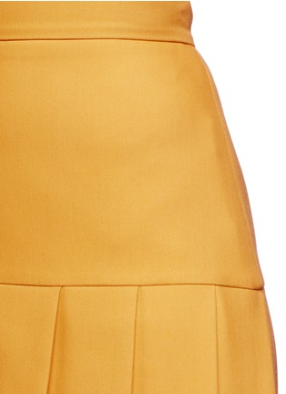 Detail View - Click To Enlarge - Gucci - Silk-wool crepe pleat hem skirt