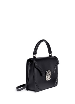 Figure View - Click To Enlarge - Alexander McQueen - Crystal pavé starburst medallion leather satchel