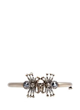 Main View - Click To Enlarge - Alexander McQueen - Crystal spider skull bracelet