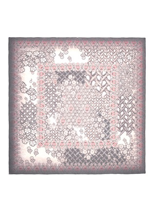 Main View - Click To Enlarge - Alexander McQueen - Daisy skull print silk scarf