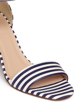 Detail View - Click To Enlarge - J.CREW - Striped strappy high-heel sandals