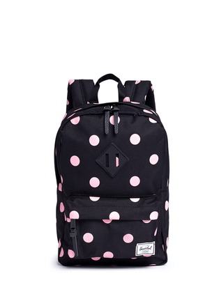 Main View - Click To Enlarge - The Herschel Supply Co. Brand - 'Heritage' polka dot print kids backpack