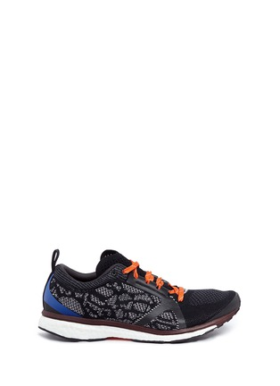 Main View - Click To Enlarge - Adidas By Stella Mccartney - 'Adizero Adios' snake jacquard Primeknit sneakers