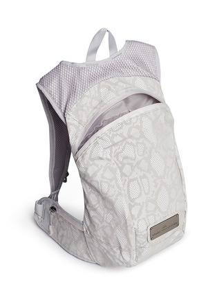 Detail View - Click To Enlarge - Adidas By Stella Mccartney - Reflective snakeskin print running backpack
