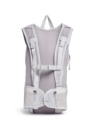 Back View - Click To Enlarge - Adidas By Stella Mccartney - Reflective snakeskin print running backpack