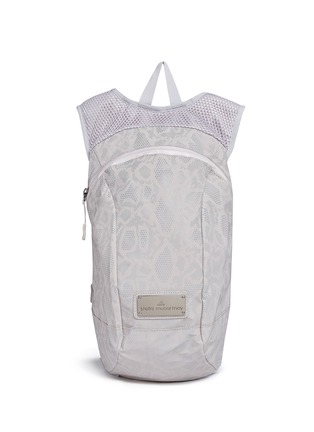 Main View - Click To Enlarge - Adidas By Stella Mccartney - Reflective snakeskin print running backpack