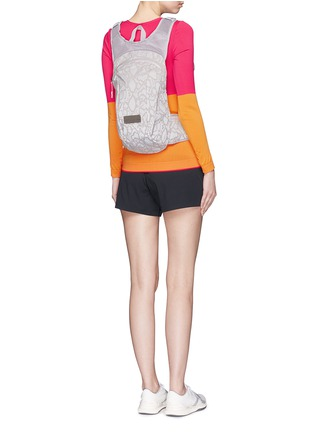 Figure View - Click To Enlarge - Adidas By Stella Mccartney - Reflective snakeskin print running backpack