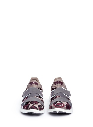 Front View - Click To Enlarge - Adidas By Stella Mccartney - 'Pureboost' mesh window floral knit running sneakers