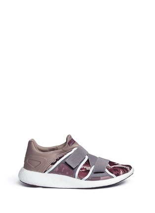 Main View - Click To Enlarge - Adidas By Stella Mccartney - 'Pureboost' mesh window floral knit running sneakers