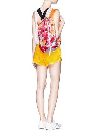 Figure View - Click To Enlarge - Adidas By Stella Mccartney - 'BP-Shopper PR' floral print backpack