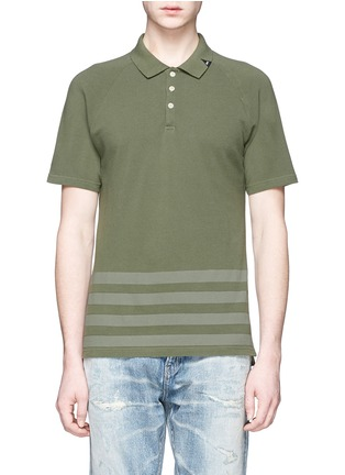 Main View - Click To Enlarge - Denham - 'Joey' raglan sleeve stripe polo T-shirt