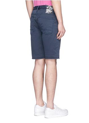 Back View - Click To Enlarge - Denham - 'Razor' cotton chino shorts