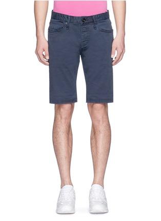 Main View - Click To Enlarge - Denham - 'Razor' cotton chino shorts