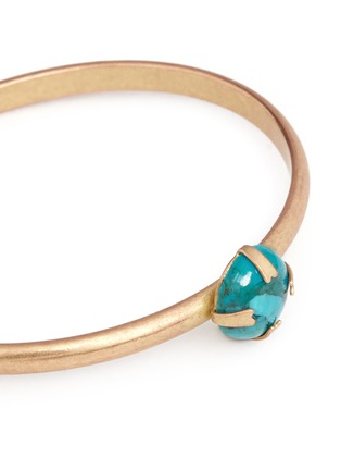 Detail View - Click To Enlarge - Isabel Marant - 'Jacques' stone cabochon brass cuff