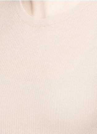 Detail View - Click To Enlarge - Isabel Marant - Semi sheer cotton blend sweater
