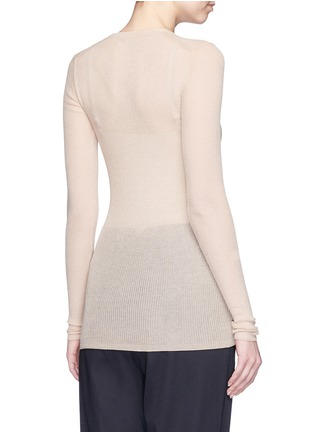 Back View - Click To Enlarge - Isabel Marant - Semi sheer cotton blend sweater